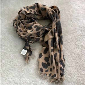 J. Crew leopard print scarf made in Italy